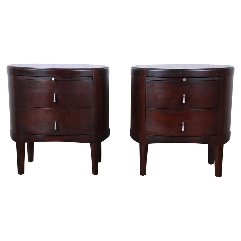 Barbara Barry Dark Mahogany Nightstands, Pair For Sale at ...