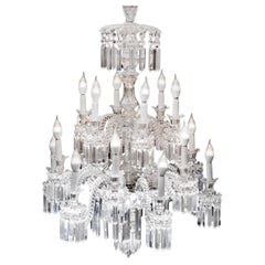 Baccarat Crystal Important Chandelier, France, 1850s