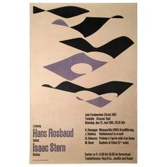 Konzertplakat für klassische Musik von J. Muller-Brockmann mit Isaac Stern, 1951