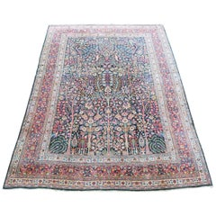 Antique Inscribed Tree of Life Carpet
