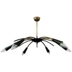 Midcentury Chandelier with Six Arms, 1950s