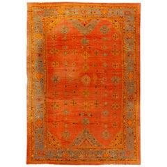 19th Century Antique Turkish Oushak Rug