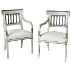 Pair of Directoire Period Armchairs, France, circa 1820