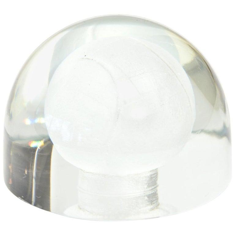 Austrian Glass Tennis Ball Paperweight Sculpture For Sale
