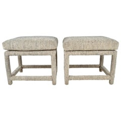 Pair of Upholstered Benches, USA, 1970s