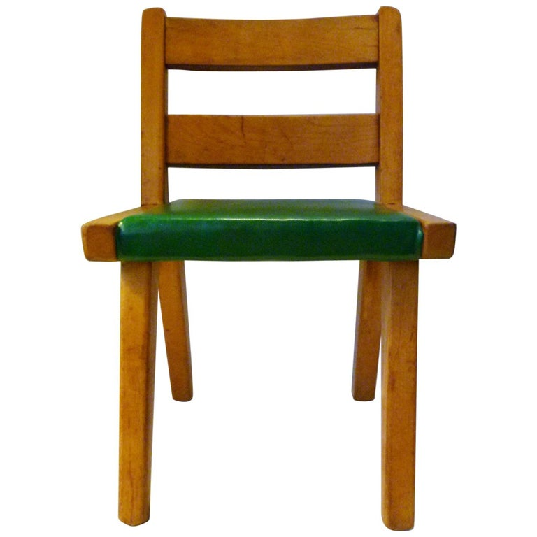Midcentury Danish Modern Risom Style Salesman Sample Or Childs Wood Chair