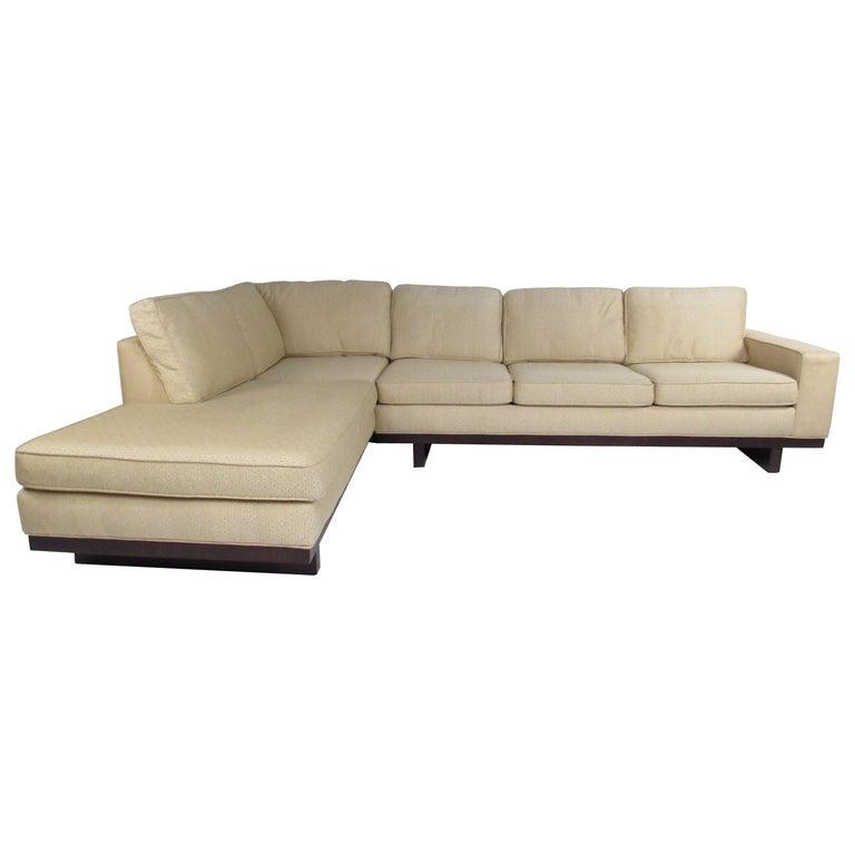 Mid-Century Modern Sectional Sofa by Milo Baughman for Thayer Coggin