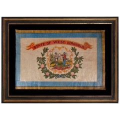 West Virginia State Parade Flag on Glazed Cotton