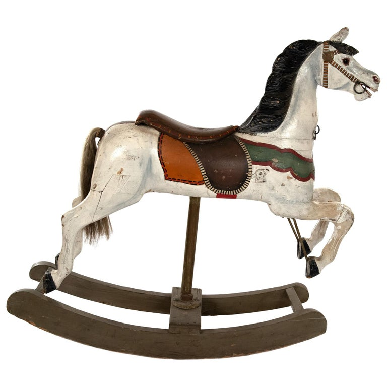 French Carousel Rocking Horse, circa 1885 For Sale