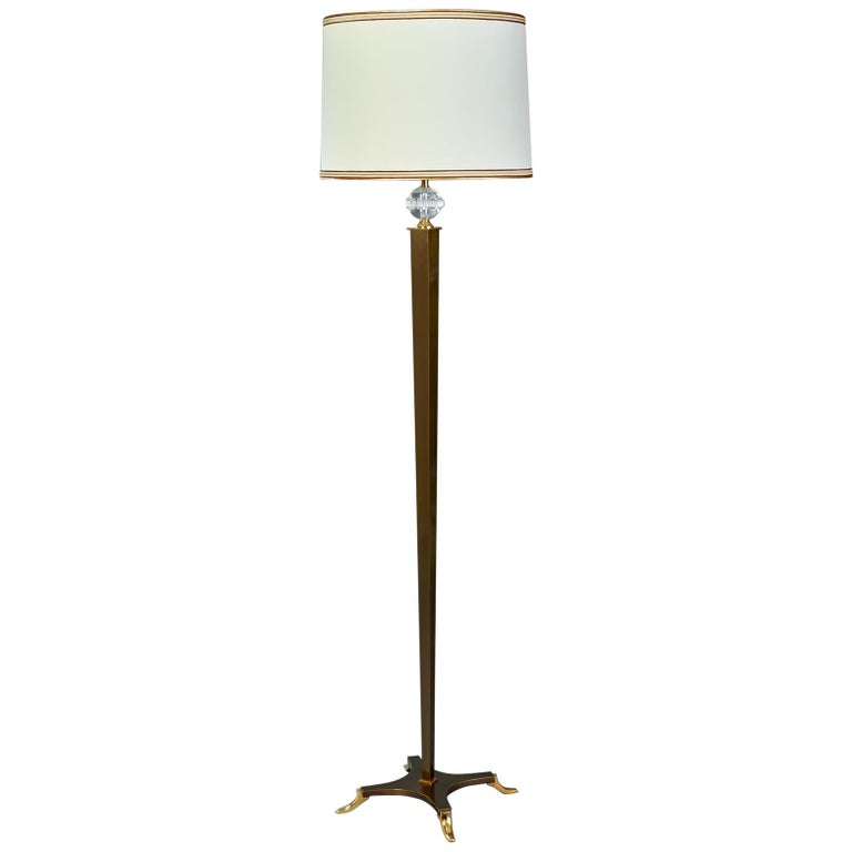 Elegant Floor Lamp by Dominique, France, 1950s For Sale