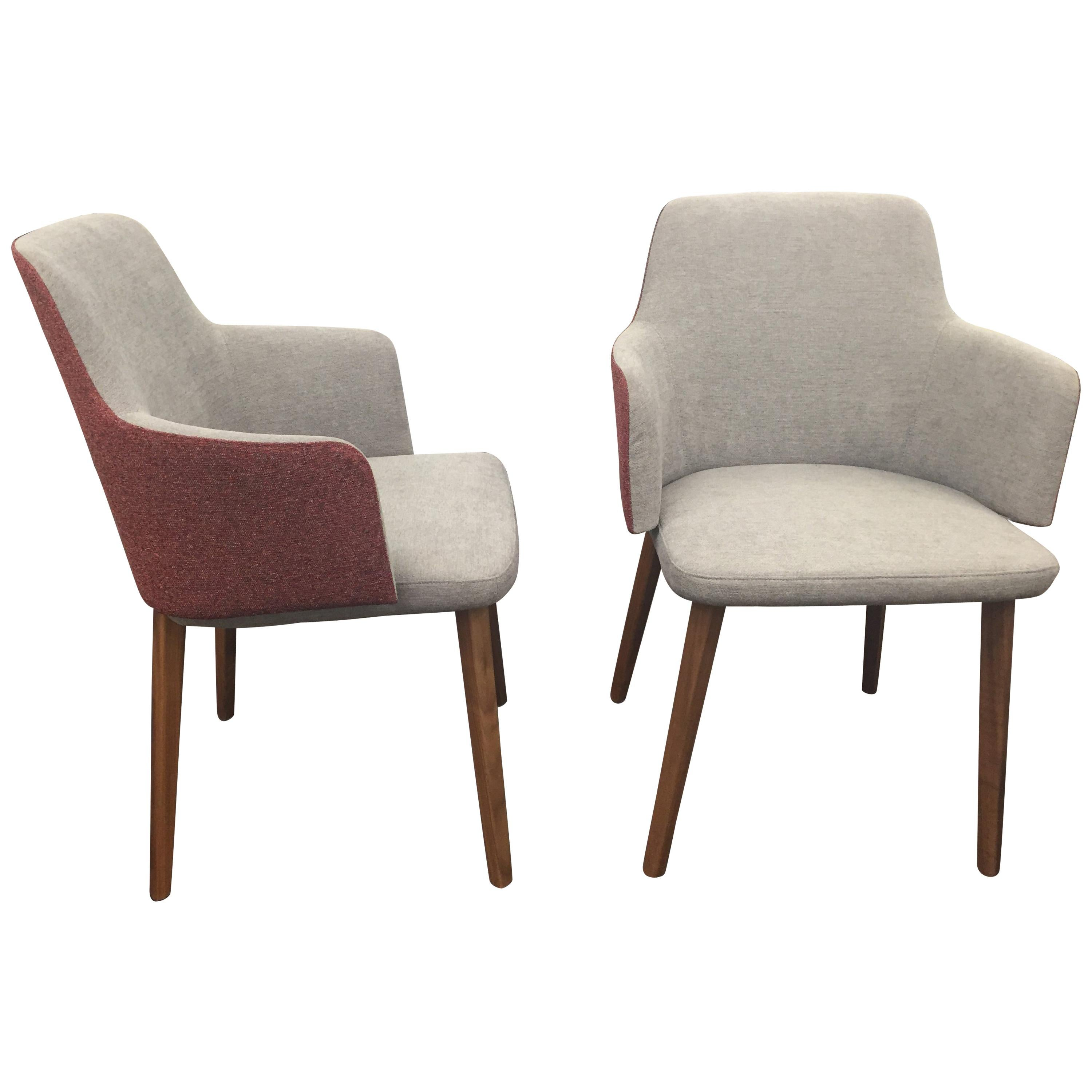 Set of Two Montis Back Me Up Armchairs