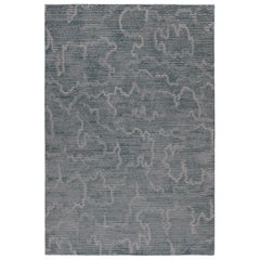 Staccato Steel Hand-Knotted 12x9 Rug in Wool and Silk by Kelly Wearstler