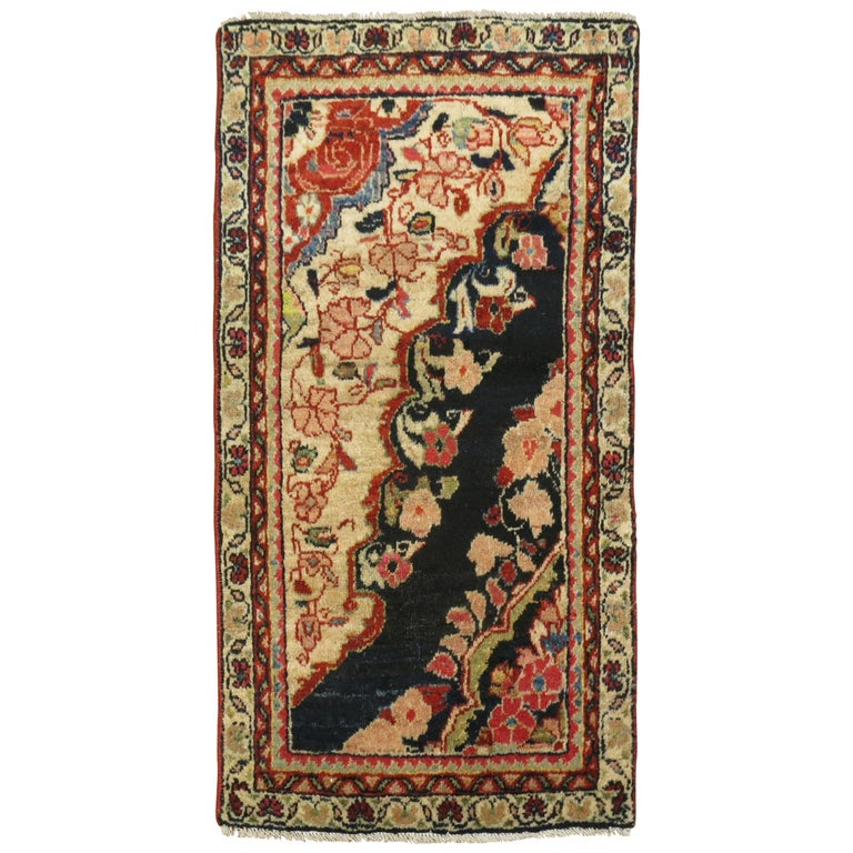 Antique Persian Sampler Rug For Sale