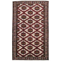 Vintage Central Asian Turkoman Carpet