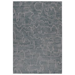Staccato Steel Hand-Knotted 14x10 Rug in Wool and Silk by Kelly Wearstler