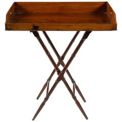 Geo III Mahogany Butlers Tray on Stand, Perfect for a Bar, Great Color, Patina