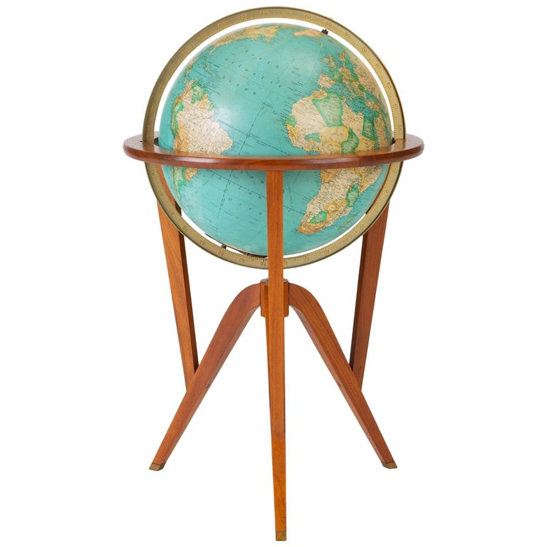 "Rand McNally ""Cosmopolitan"" Globe with Stand by Edward Wormley For Sale"