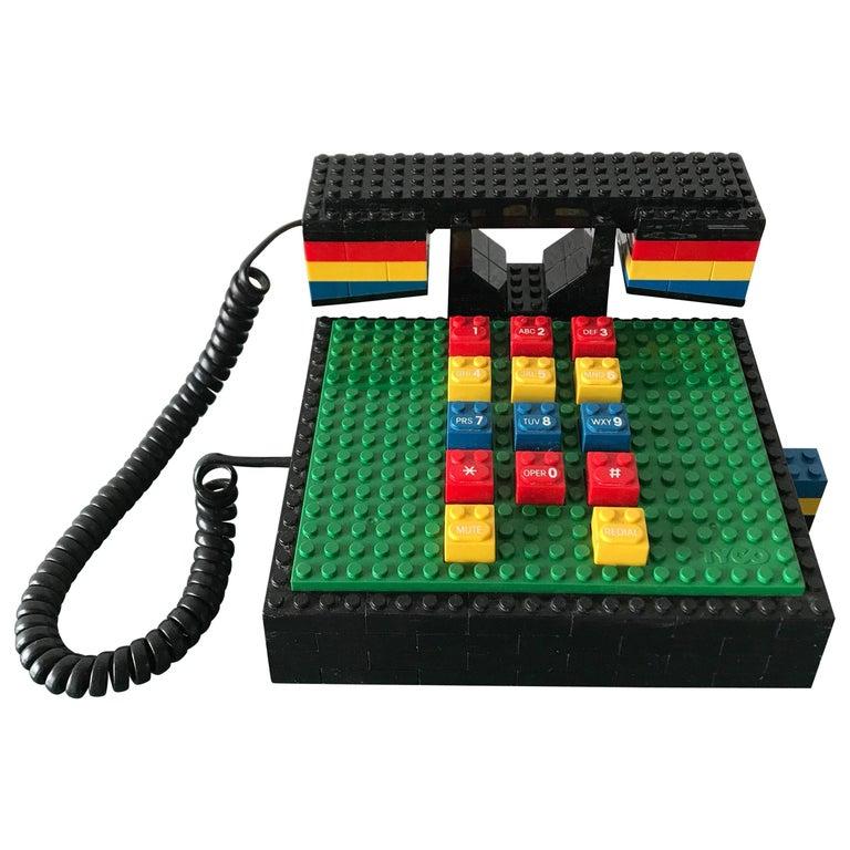 "Postmodern ""LEGO"" Telephone, Phone by Tyco"