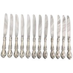 Melrose 'Sterling 1948, No Monograms' by Gorham Silver Service for 12, 78 Pieces