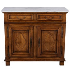Antique French Provincial Style Server with Carrara Marble Top