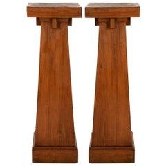 Pair of Arts & Crafts American Pedestals, circa 1900