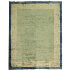 Pale Blue Antique Chinese Rug