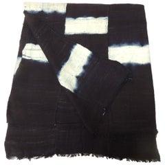 Vintage African Yoruba Reversible Artisanal Indigo Cloth
