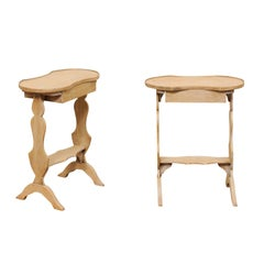 Pair of Vintage Petite Side Tables with Small Drawer