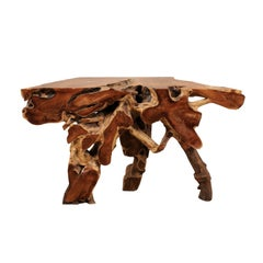 Tropical Teak Root Console Table