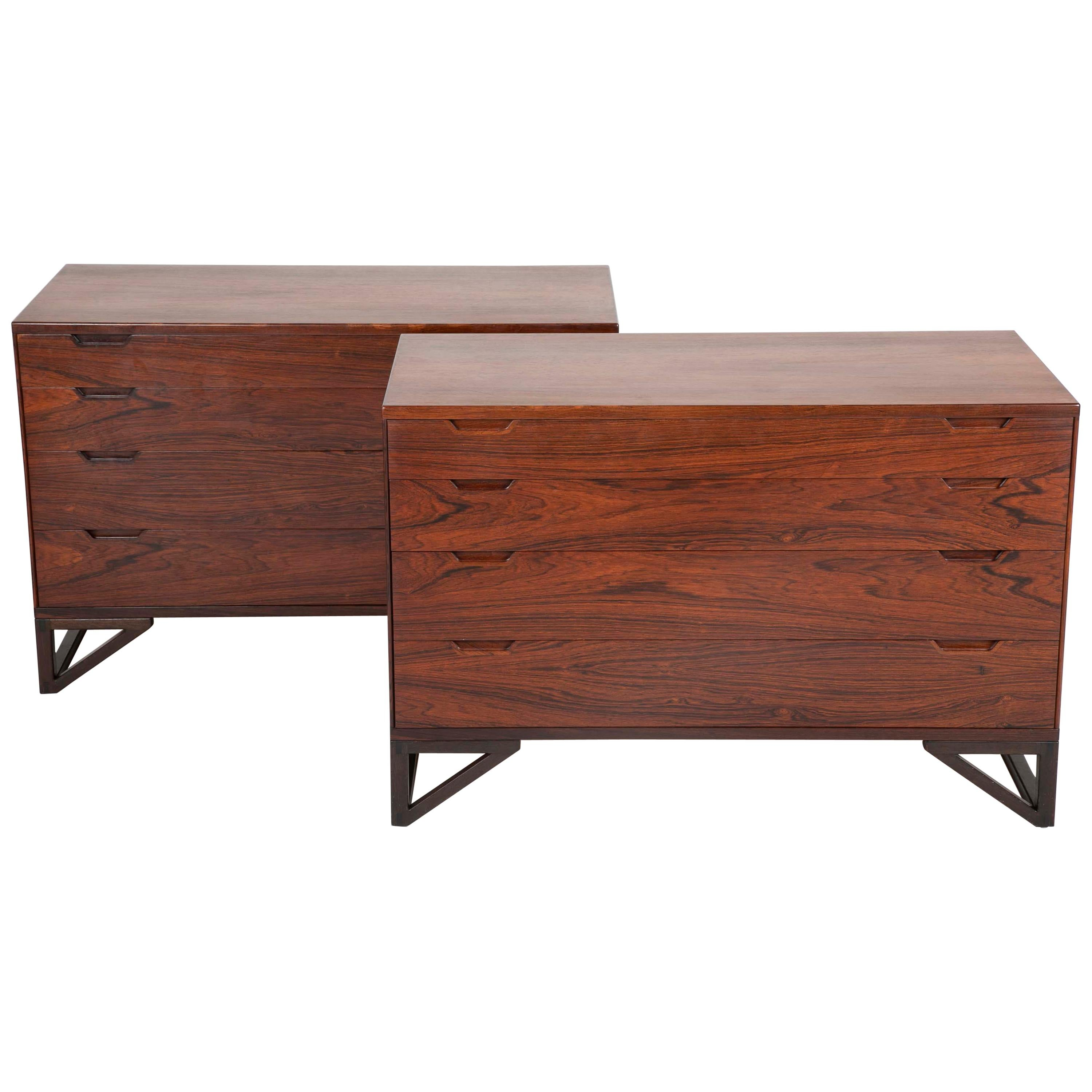 Pair of Midcentury Danish Rosewood Chests by Svend Langkilde