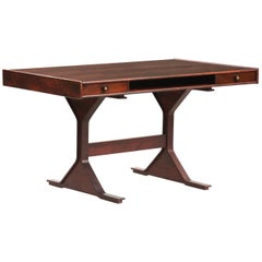 Gianfranco Frattini Rosewood Writing Desk for Bernini