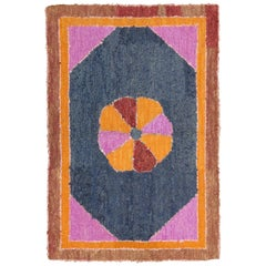 Bright American Hooked Rug