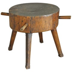 19th Century Italian Billot, Butcher's Block