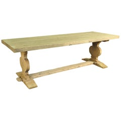 French 19th Century Farm Table, Trestle Table