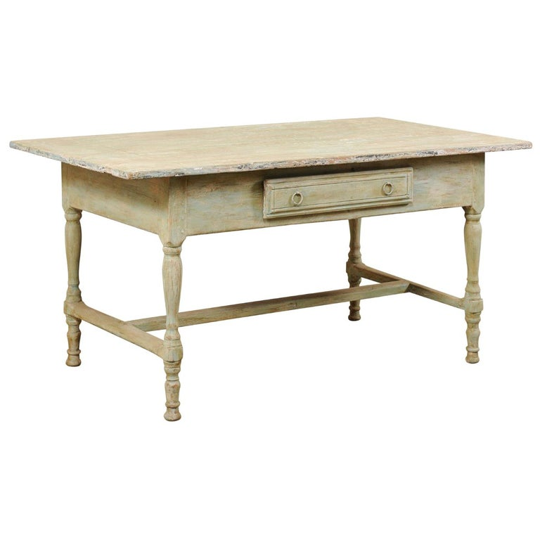 Early 20th Century Antique Swedish Farm-House Table For Sale