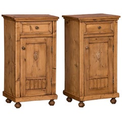 Pair of Antique Country Pine Nightstands