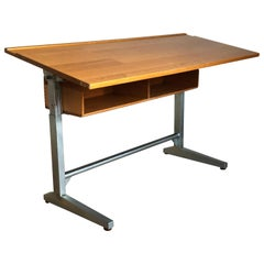 Embru Patent 1989 Swiss Made Authentic School Desk Industrial Office Table