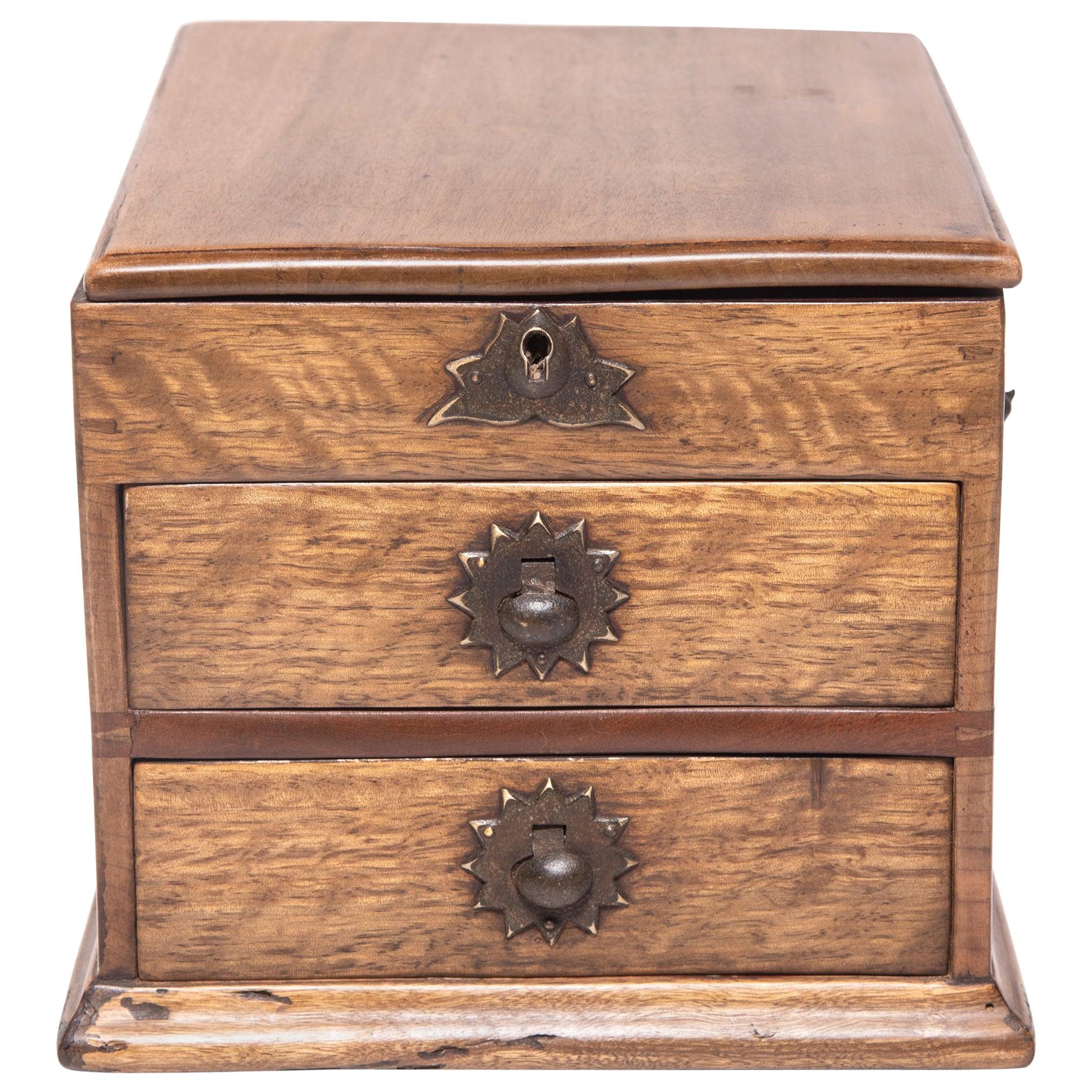 Chinese Lotus Keepsake Box, c. 1900