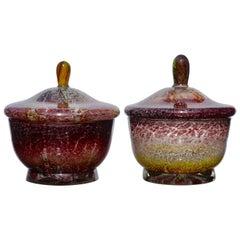 Two WMF Ikora Lidded Bowls Art Deco, Midcentury