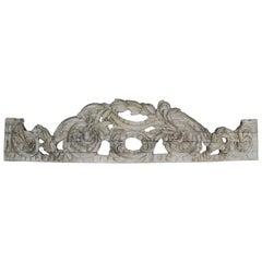 Hand Carved Italian Overdoor Fragment