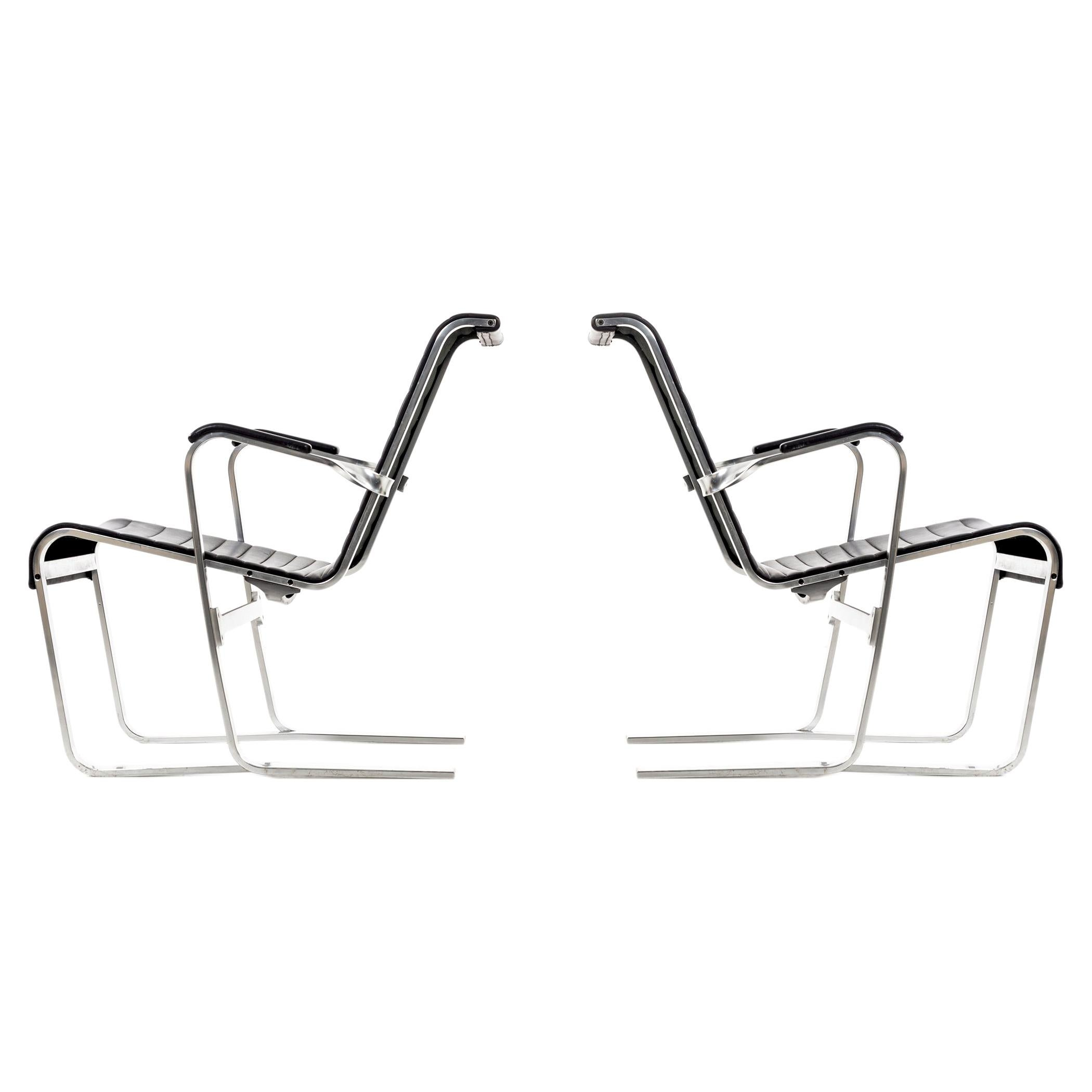 Pair of Marcel Breuer Lounge Chairs