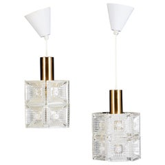 Pair of Ceiling Lamps by Carl Fagerlund for Orrefors Glassworks