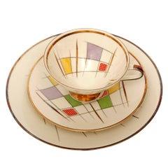 Colorful Porcelain Breakfast Set, Bavaria, Germany, Mid-Century Modern, 1950s