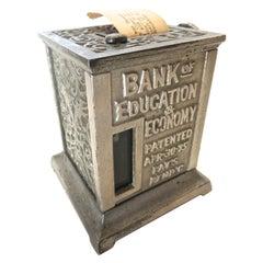 """Bank of Education & Economy"" Mechanical Bank. American, circa 1895"