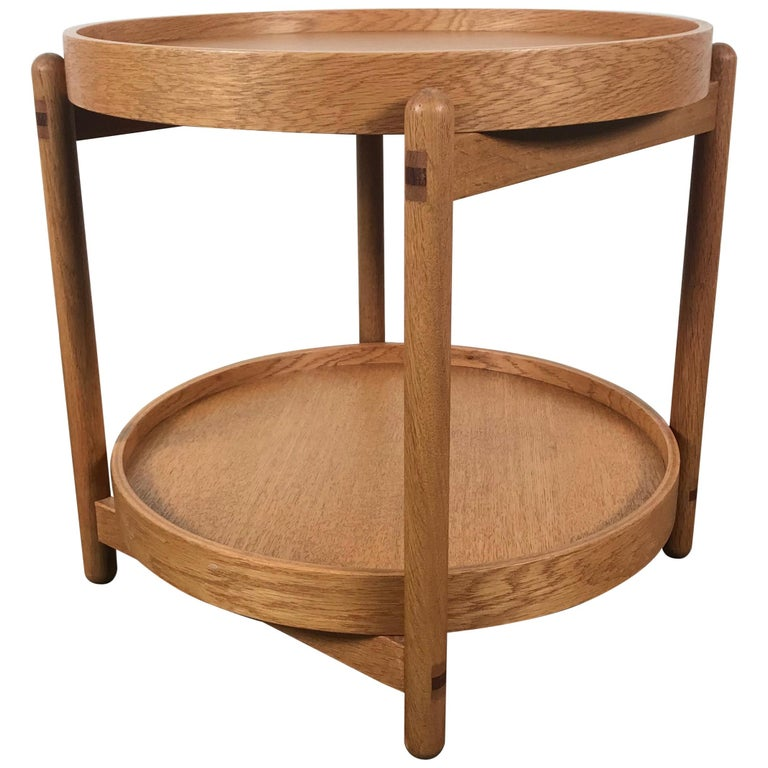 Teak Tray Table Made in Denmark Attributed to Hans Bolling, Torben Orskov For Sale