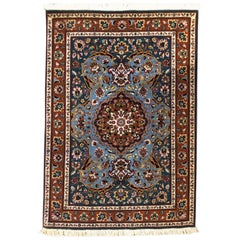 Authentic Persian Hand Knotted Floral Medallion Tabriz Rug