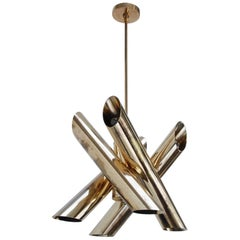 Brass Multi Tubular Pendant