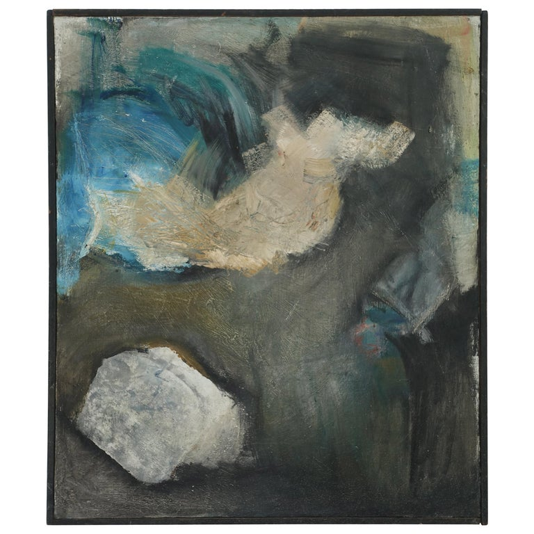 Large Midcentury American Abstract Expressionist Painting For Sale