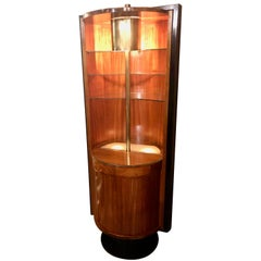 Art Deco Modernist Bar Display Storage Vitrine