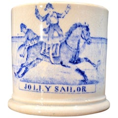Staffordshire Pottery Child's Mug, JOLLY SAILOR, circa 1850